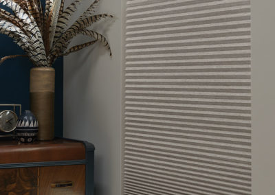 Grey cellular and pleated shades