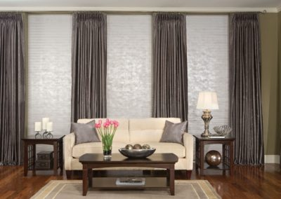 long gray curtains in living room