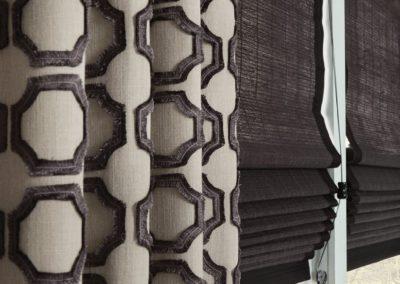 hexagon drapes with shades