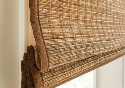 Brown natural woven shades