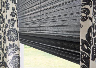 Grey natural woven shades
