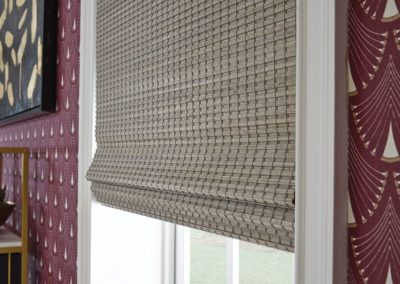 Printed natural woven shades