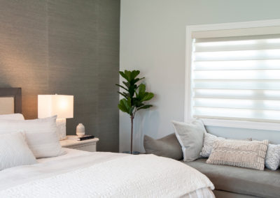 Bedroom with sheer shades