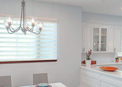 breakfast room with sheer shades