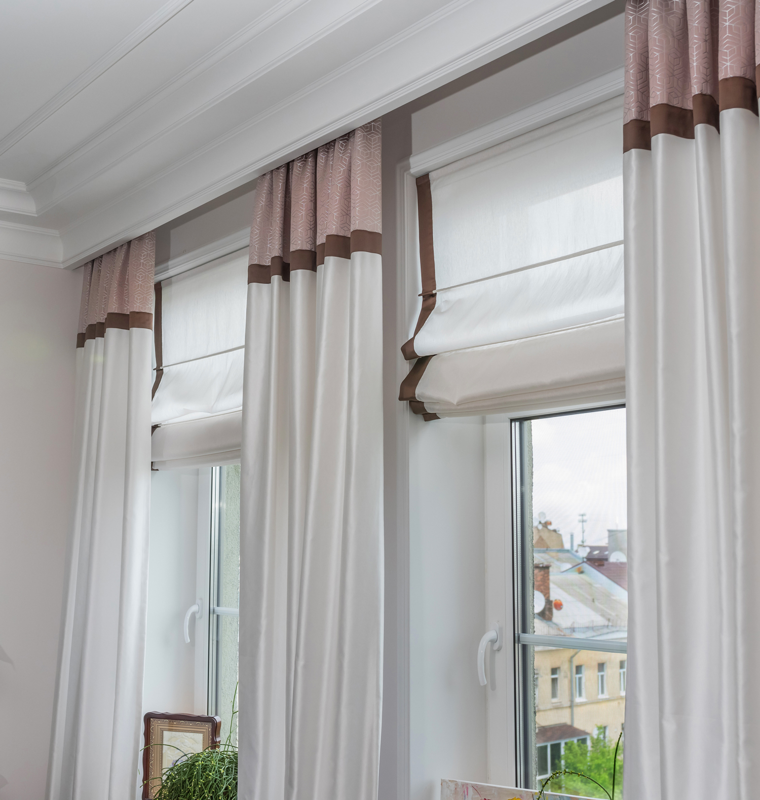 custom curtains and roman shades